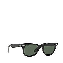 Ray-Ban - Black 'Wayfarer' RB2140 square sunglasses