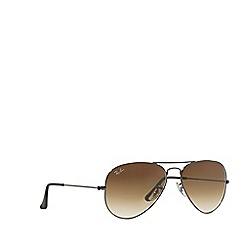 Ray-Ban - Gunmetal 'Aviator' RB3025 pilot sunglasses
