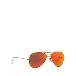 Ray-Ban - Gold pilot '0RB3025' sunglasses