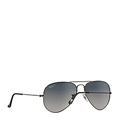 Ray-Ban - Grey 'Aviator' RB3025 pilot sunglasses