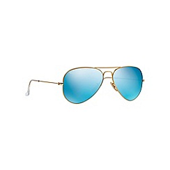 Ray-Ban - Gold aviator 'RB3025' sunglasses