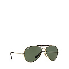 Ray-Ban - Gold aviator 'RB3029 outdoorsman II' sunglasses