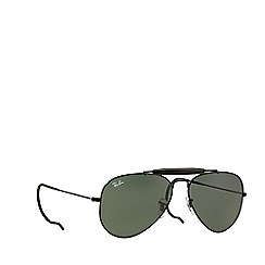 Ray-Ban - Black 'Outdoorsman' RB3030 pilot sunglasses