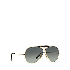 Ray-Ban - Gold aviator 'RB3138 shooter' sunglasses