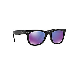 Ray-Ban - Black folding wayfarer square RB4105 sunglasses