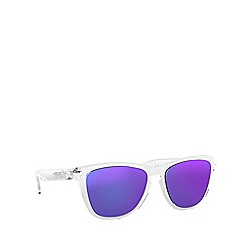 Oakley - Clear 'Frogskins' OO9013 square sunglasses