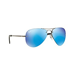 Ray-Ban - Grey aviator 'RB3449' sunglasses