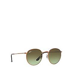 ray bans sunglasses debenhams  ray ban bronze 'round metal' rb3447 sunglasses