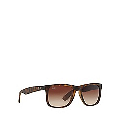 Ray-Ban - Brown 'Justin' RB4165 rectangle sunglasses