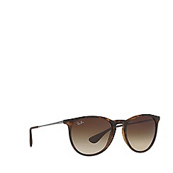 Ray-Ban - Brown 'Erika' RB4171 round sunglasses
