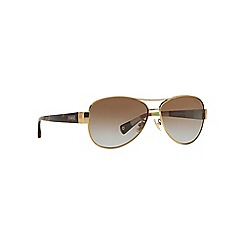 Coach - Gold aviator HC7003 sunglasses