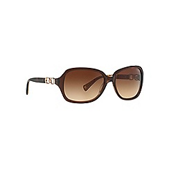Coach - Brown rectangle BEATRICE HC8019 sunglasses