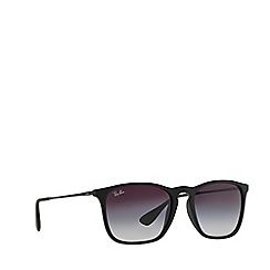 Ray-Ban - Rubber black 'Chris' square RB4187 sunglasses