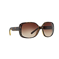 DKNY - Dark brown square DY4101 sunglasses
