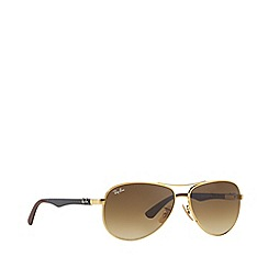 Ray-Ban - Gold RB8313 pilot sunglasses