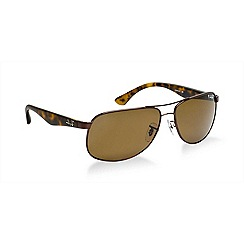 Ray-Ban - Brown  aviator RB3502 sunglasses