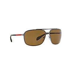 Prada Linea Rossa - Grey rectangle '0PS54OS' sunglasses
