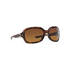 Oakley - Brown OO9198 rectangle sunglasses