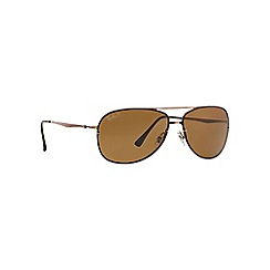 Ray-Ban - Brown aviator RB8052 sunglasses