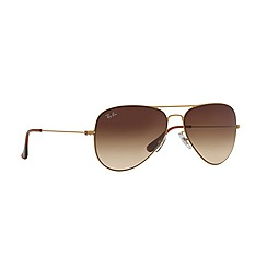 Ray-Ban - Gold pilot '0RB3513' sunglasses