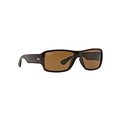 Ray-Ban - Brown rectangle RB4199 sunglasses