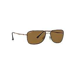 Ray-Ban - Brown aviator RB8054 sunglasses