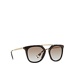 Prada - Brown irregular PR 13QS sunglasses