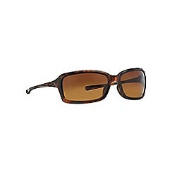 Oakley - Brown OO9233 irregular sunglasses