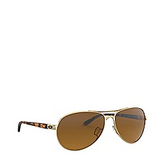 Oakley - Polished gold 'Feedback' pilot OO4079 sunglasses