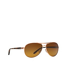 Oakley - Rose gold 'Feedback' pilot OO4079 sunglasses