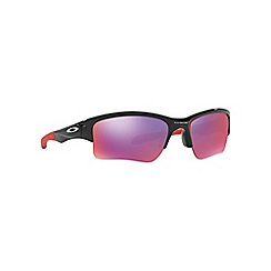 Oakley - Shiny black 'Quarter Jacket' OO9200 rectangle sunglasses