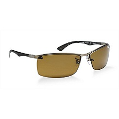 Ray-Ban - Gunmetal rectangle RB8315 sunglasses