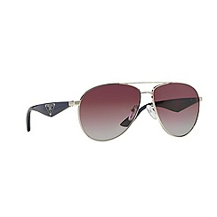 Prada - Silver aviator '0PR53QS' sunglasses
