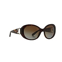 Ralph Lauren - Brown oval RL8118Q sunglasses