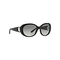 Ralph Lauren - Black RL8118Q oval sunglasses
