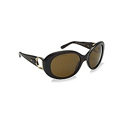 Ralph Lauren - Green RL8118Q oval sunglasses