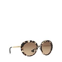 Prada - Brown round PR 16QS sunglasses