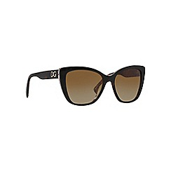 Dolce & Gabbana - Brown oversize DG4216 sunglasses