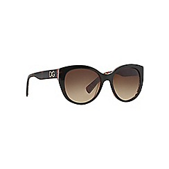 Dolce & Gabbana - Brown DG4217 round sunglasses