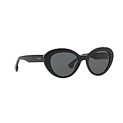 Prada - Black oval PR 15QS sunglasses