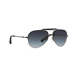 Emporio Armani - Gunmetal aviator EA2020 sunglasses