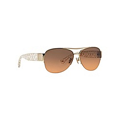 Coach - Gold aviator HC7042 sunglasses