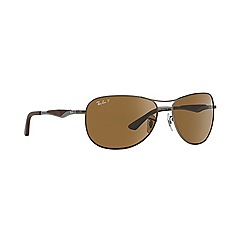 Ray-Ban - Gunmetal  aviator RB3519 sunglasses