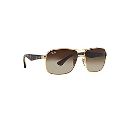 Ray-Ban - Gold square '0RB3516' sunglasses