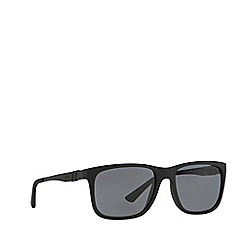 Polo Ralph Lauren - Black rectangle '0PH40880' sunglasses