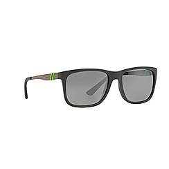 Polo Ralph Lauren - Grey PH40880 rectangle sunglasses