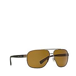 Dolce & Gabbana - Matte gunmetal DG2140 pilot sunglasses