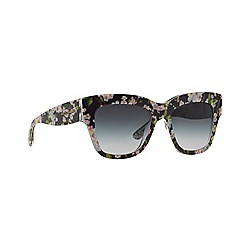 Dolce & Gabbana - Black peach flowers square DG4231 sunglasses