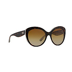 Dolce & Gabbana - Brown cat eye DG4236 sunglasses