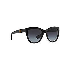 Dolce & Gabbana - Black oversize DG6087 sunglasses